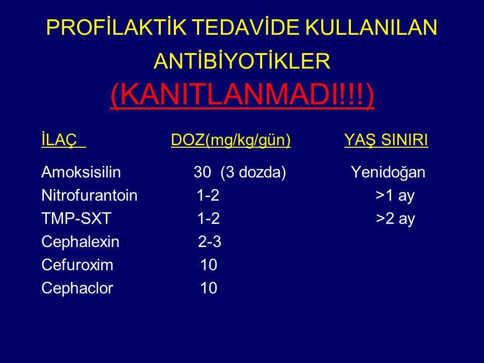 PROFİLAKTİK TEDAVİDE KULLANILAN ANTİBİYOTİKLER (KANITLANMADI!!!)