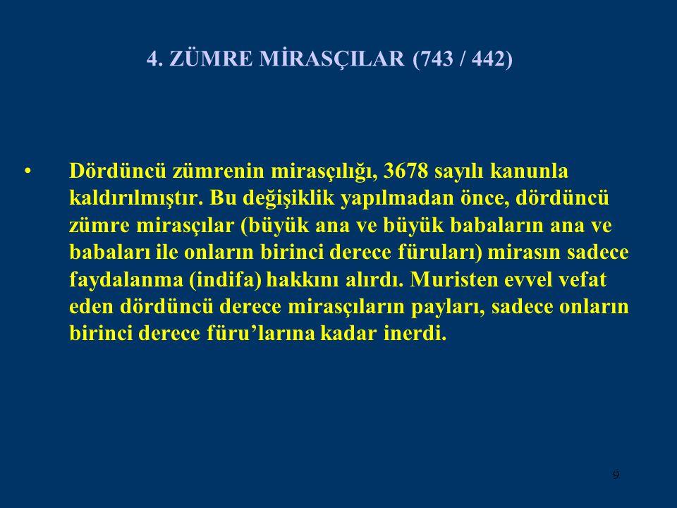4. ZÜMRE MİRASÇILAR (743 / 442)