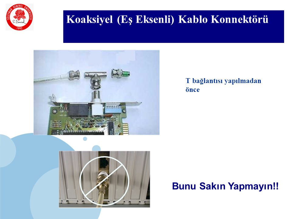 Koaksiyel (Eş Eksenli) Kablo Konnektörü