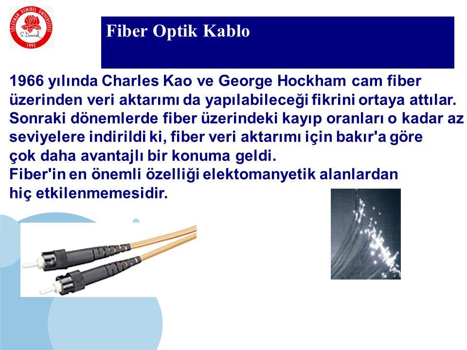 Fiber Optik Kablo 1966 yılında Charles Kao ve George Hockham cam fiber