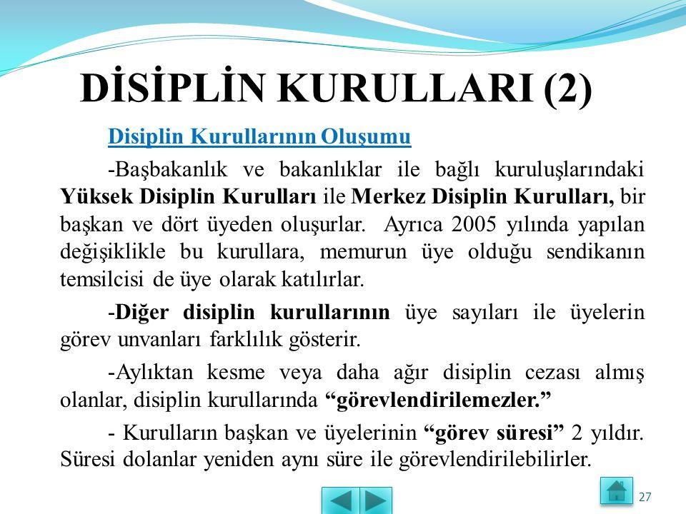 DİSİPLİN KURULLARI (2)
