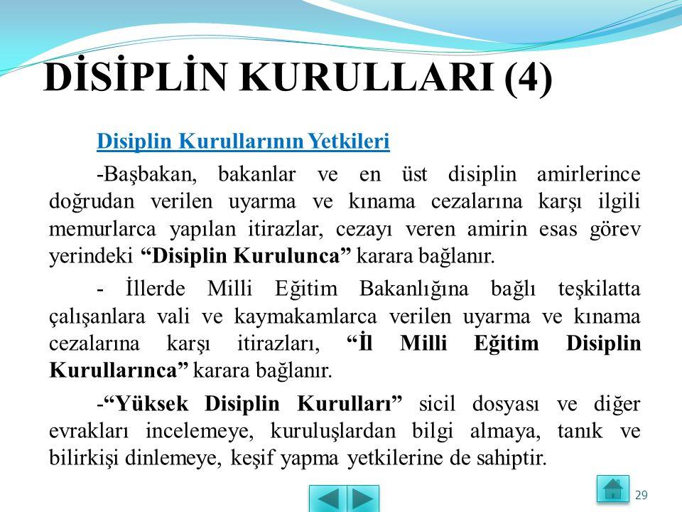 DİSİPLİN KURULLARI (4)