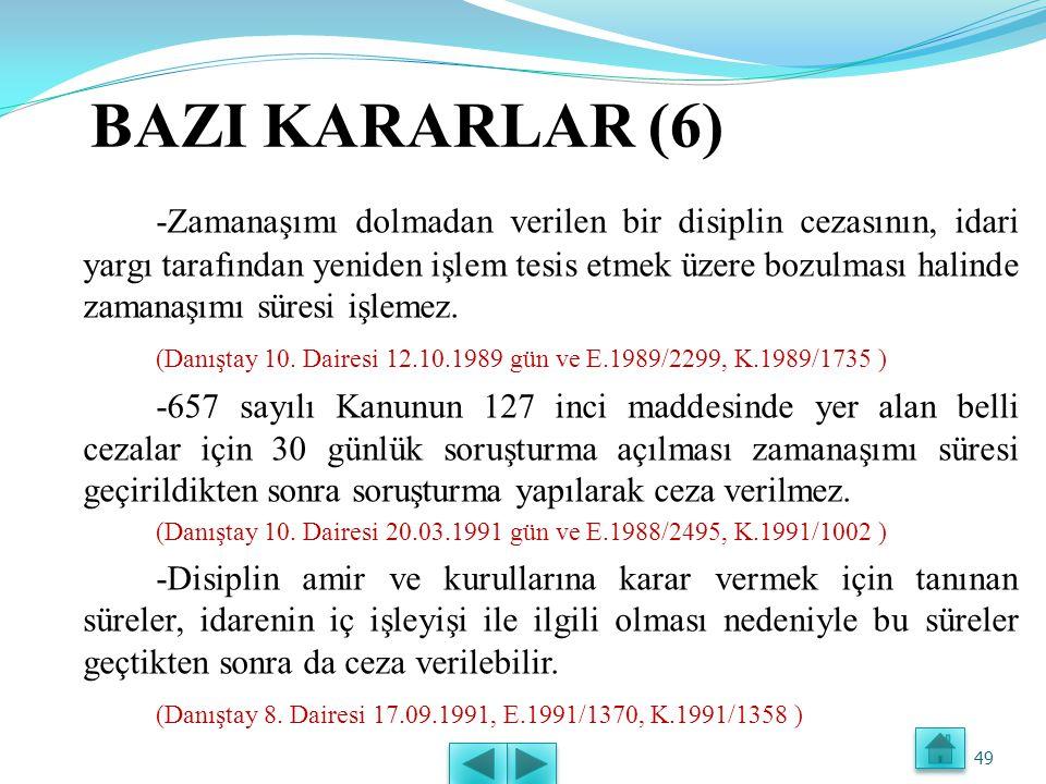 BAZI KARARLAR (6)