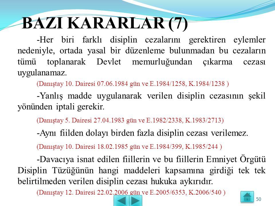 BAZI KARARLAR (7)