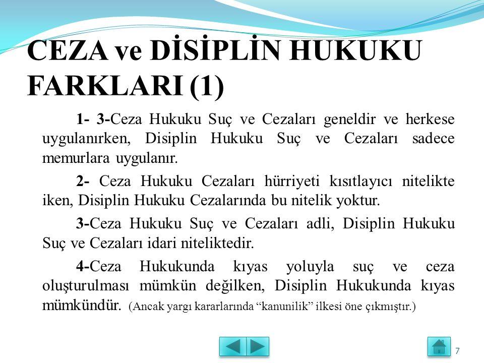 CEZA ve DİSİPLİN HUKUKU FARKLARI (1)