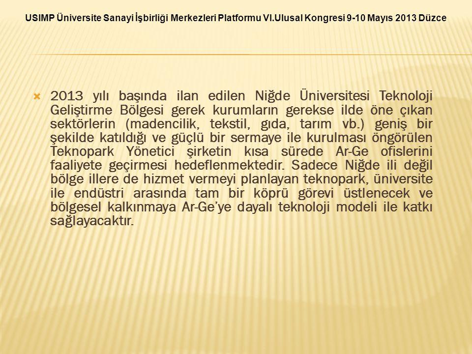 USIMP Üniversite Sanayi İşbirliği Merkezleri Platformu VI