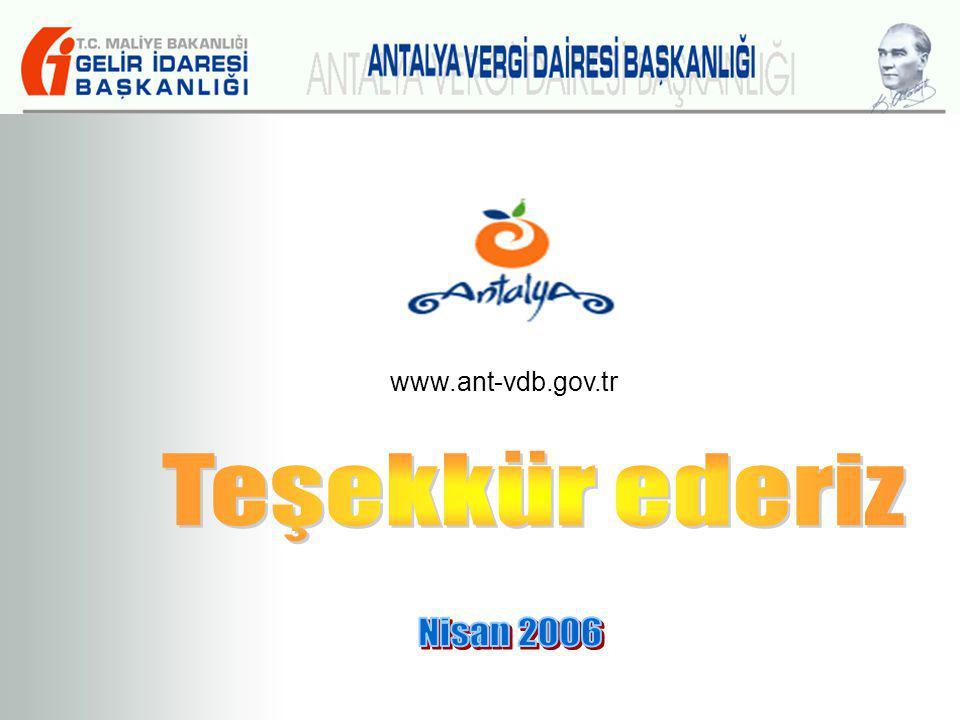 www.ant-vdb.gov.tr Teşekkür ederiz Nisan 2006