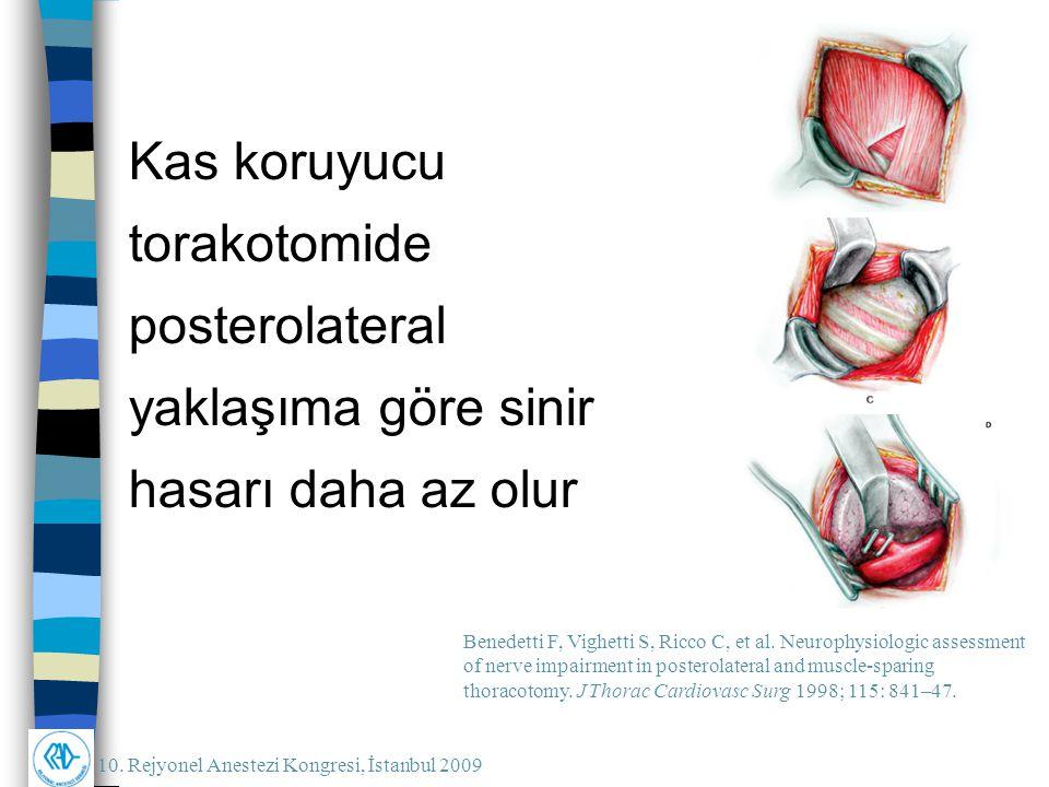 Kas koruyucu torakotomide posterolateral yaklaşıma göre sinir hasarı daha az olur