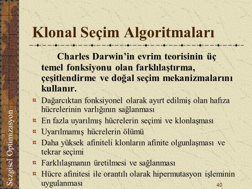 Klonal Seçim Algoritmaları