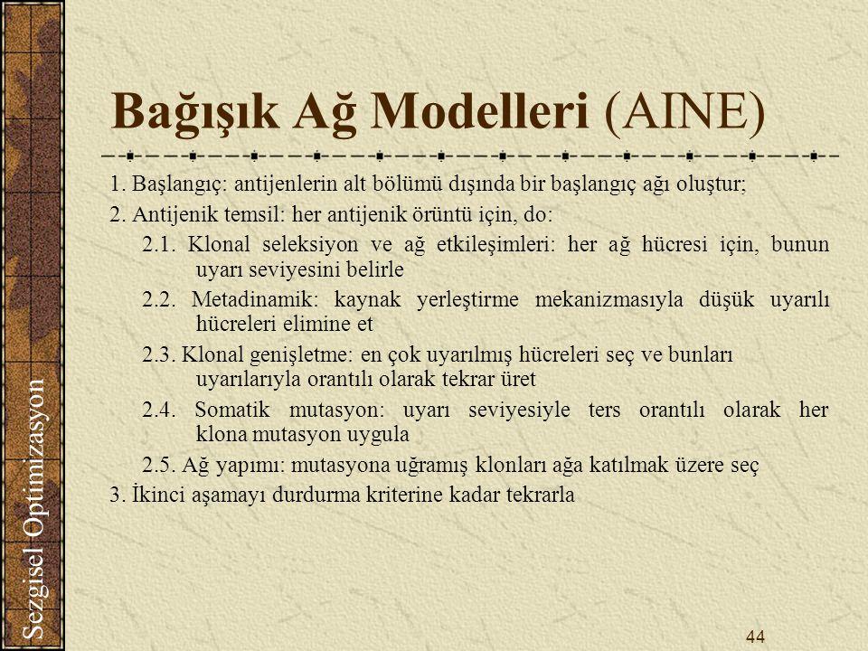 Bağışık Ağ Modelleri (AINE)