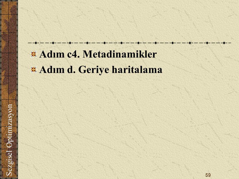Adım c4. Metadinamikler Adım d. Geriye haritalama