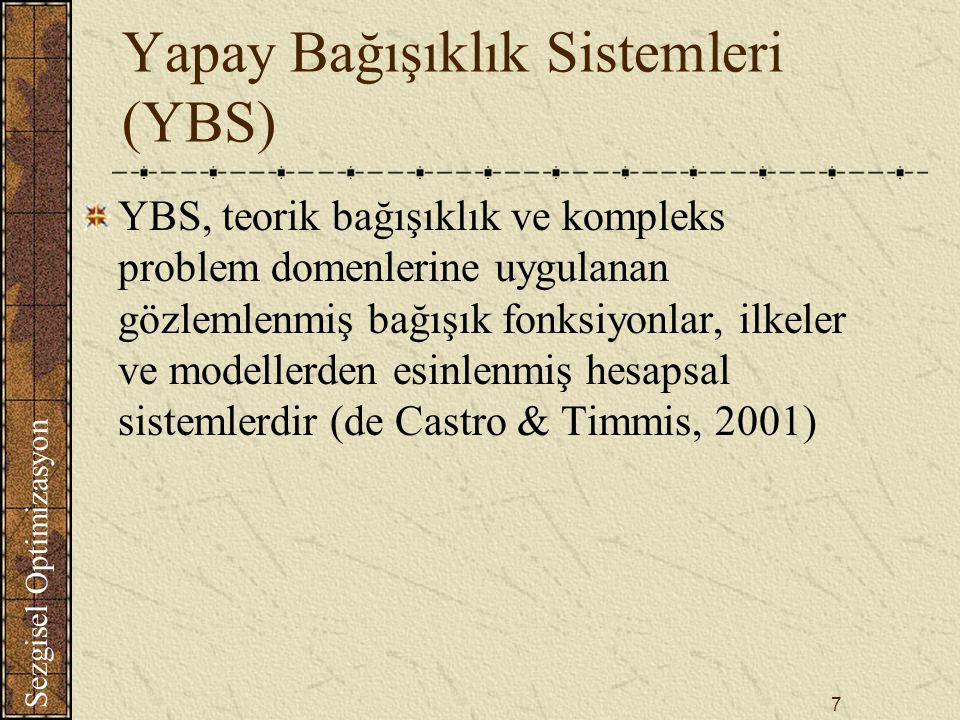 Yapay Bağışıklık Sistemleri (YBS)