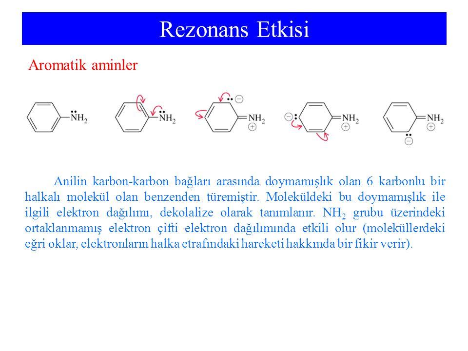 Rezonans Etkisi Aromatik aminler