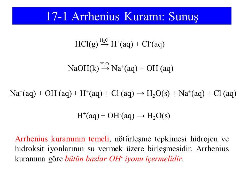 17-1 Arrhenius Kuramı: Sunuş