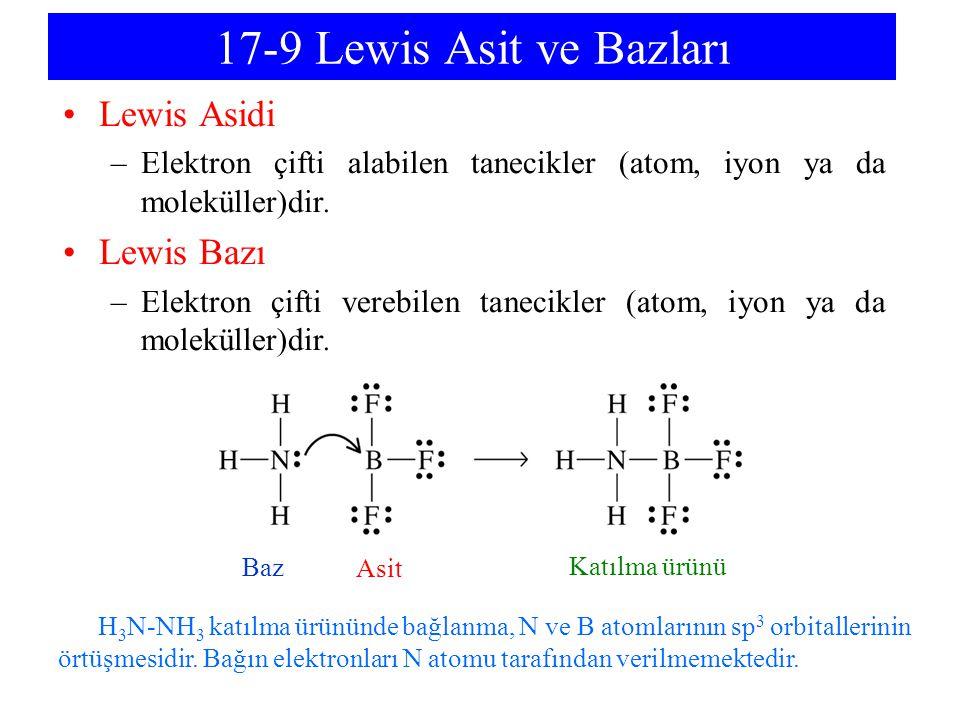 17-9 Lewis Asit ve Bazları Lewis Asidi Lewis Bazı