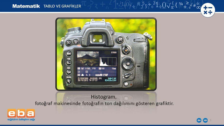 fotoğraf makinesinde fotoğrafın ton dağılımını gösteren grafiktir.