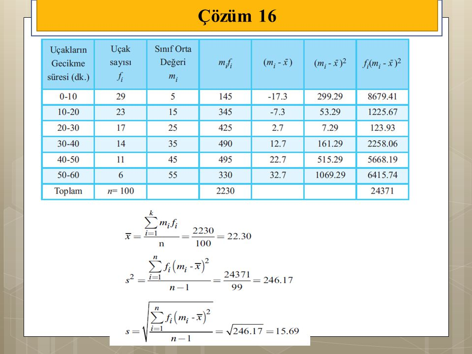 Çözüm 16