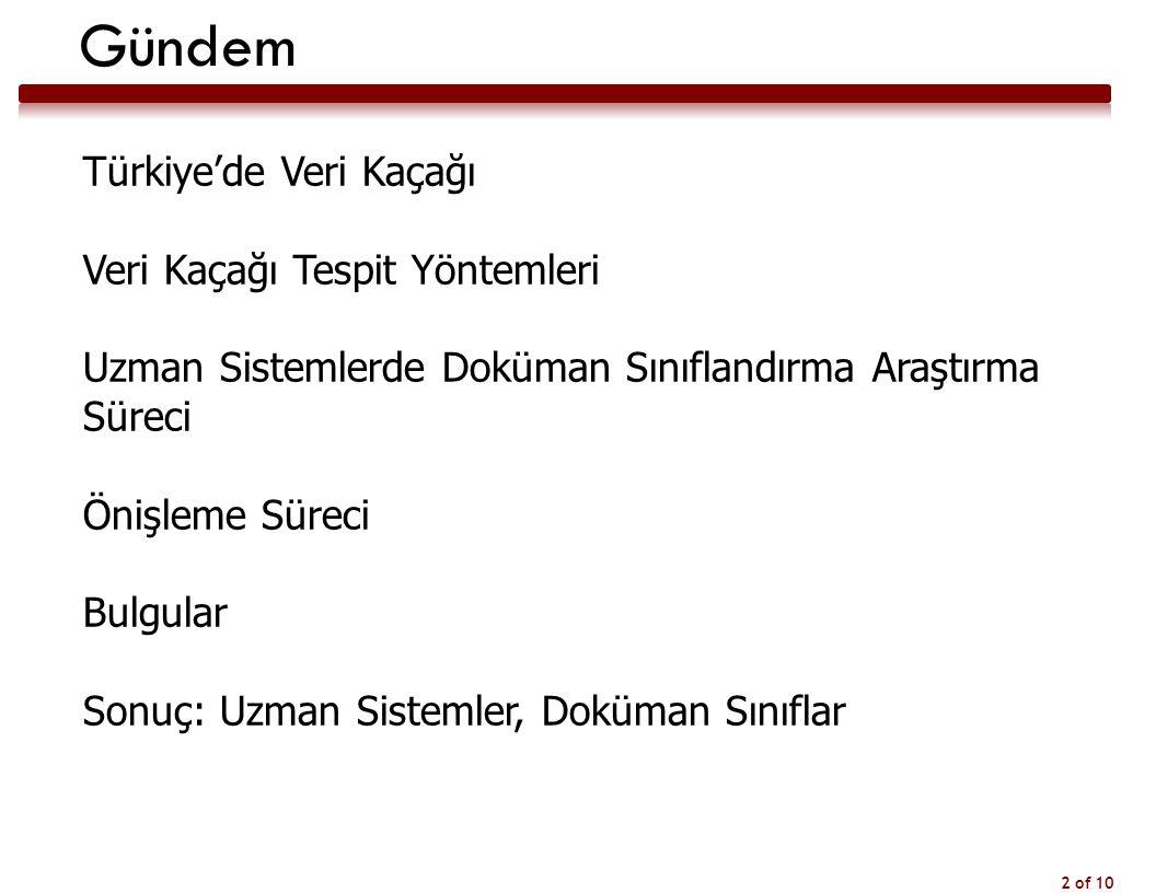 Gündem Türkiye'de Veri Kaçağı Veri Kaçağı Tespit Yöntemleri