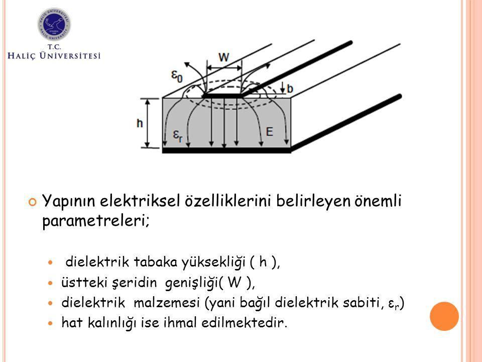 Yapının elektriksel özelliklerini belirleyen önemli parametreleri;