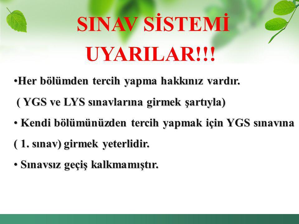 SINAV SİSTEMİ UYARILAR!!!