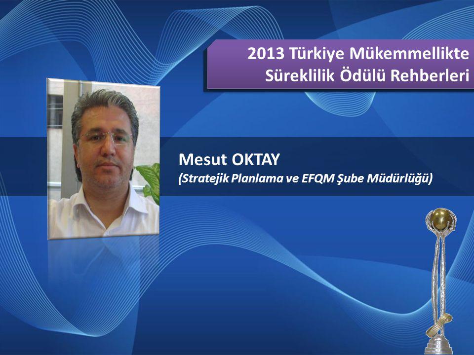 2013 Türkiye Mükemmellikte Süreklilik Ödülü Rehberleri Mesut OKTAY