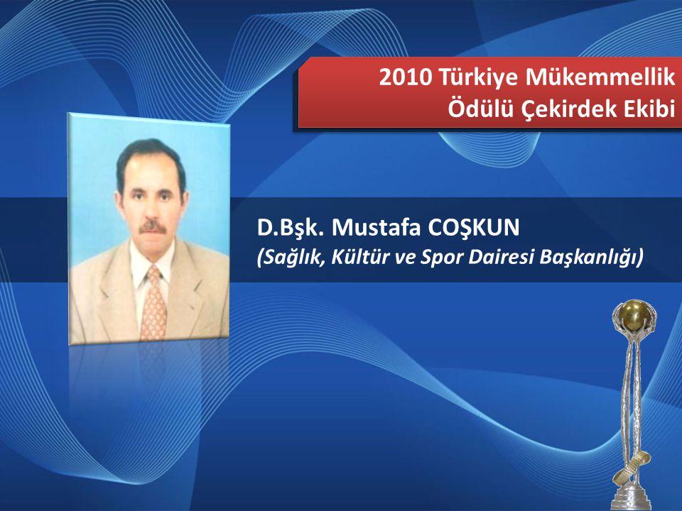 2010 Türkiye Mükemmellik Ödülü Çekirdek Ekibi D.Bşk. Mustafa COŞKUN