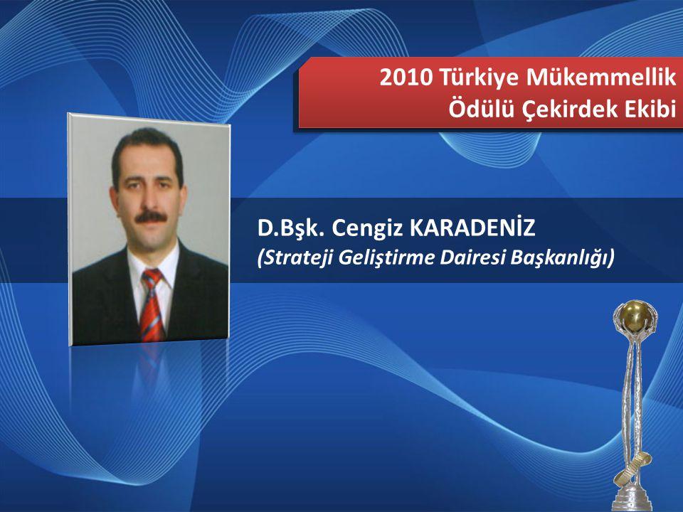 2010 Türkiye Mükemmellik Ödülü Çekirdek Ekibi D.Bşk. Cengiz KARADENİZ
