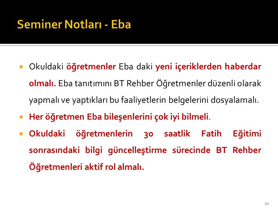 Seminer Notları - Eba