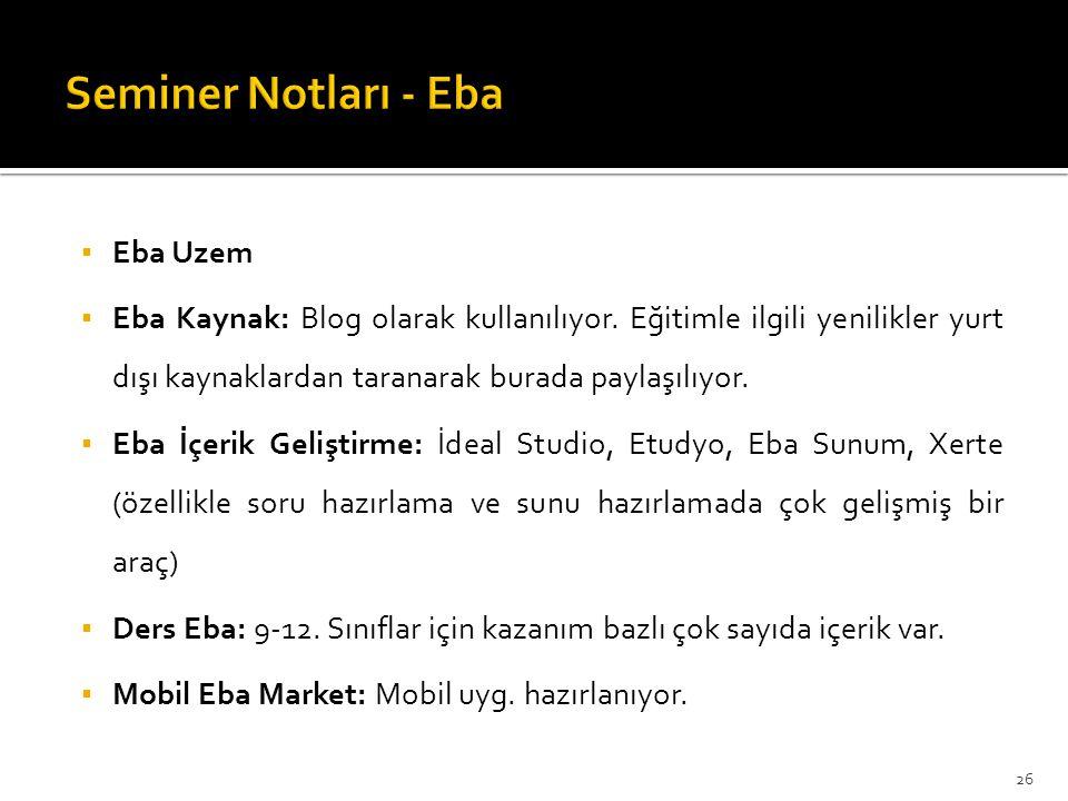 Seminer Notları - Eba Eba Uzem