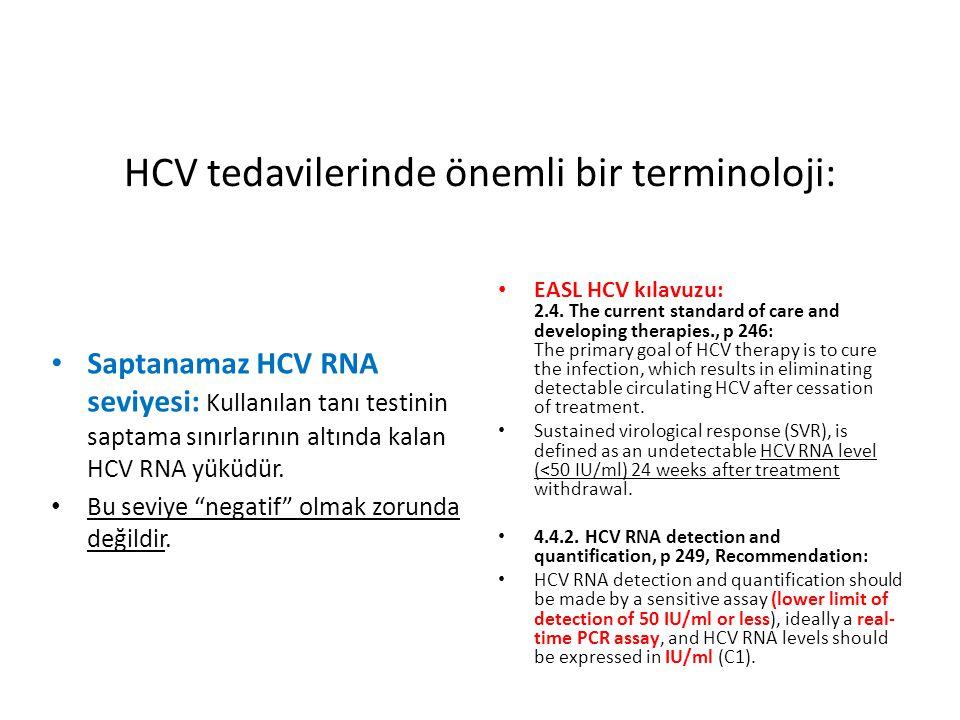 HCV tedavilerinde önemli bir terminoloji: