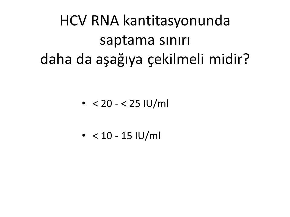 HCV RNA kantitasyonunda saptama sınırı daha da aşağıya çekilmeli midir