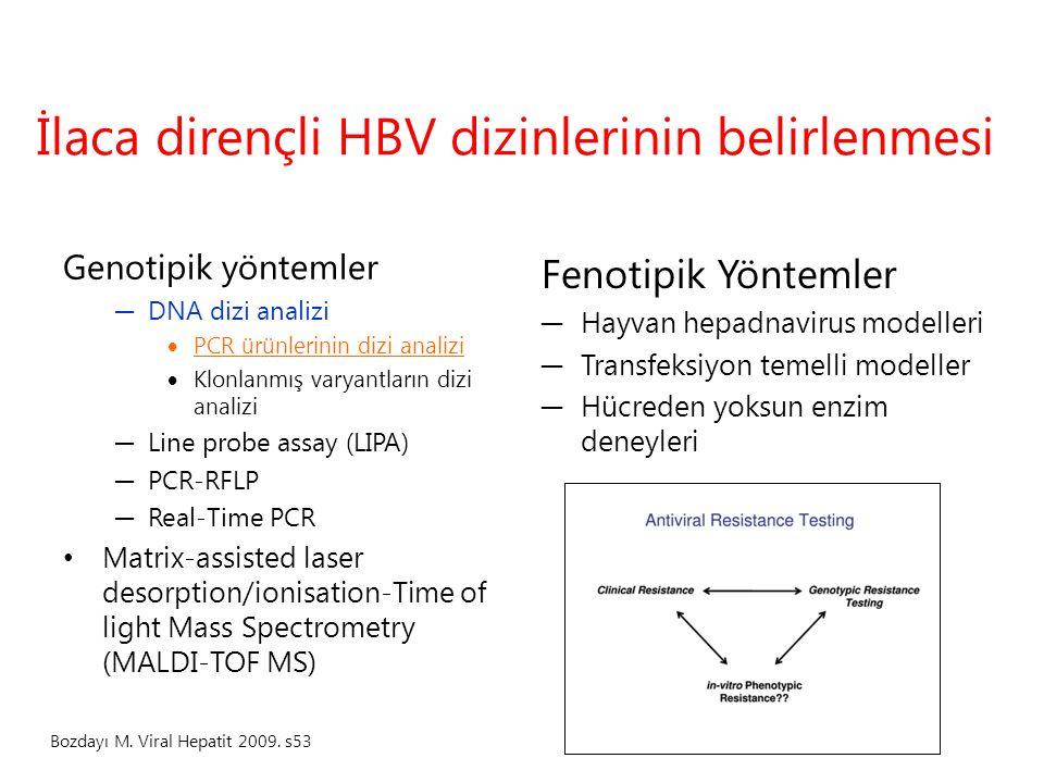 İlaca dirençli HBV dizinlerinin belirlenmesi