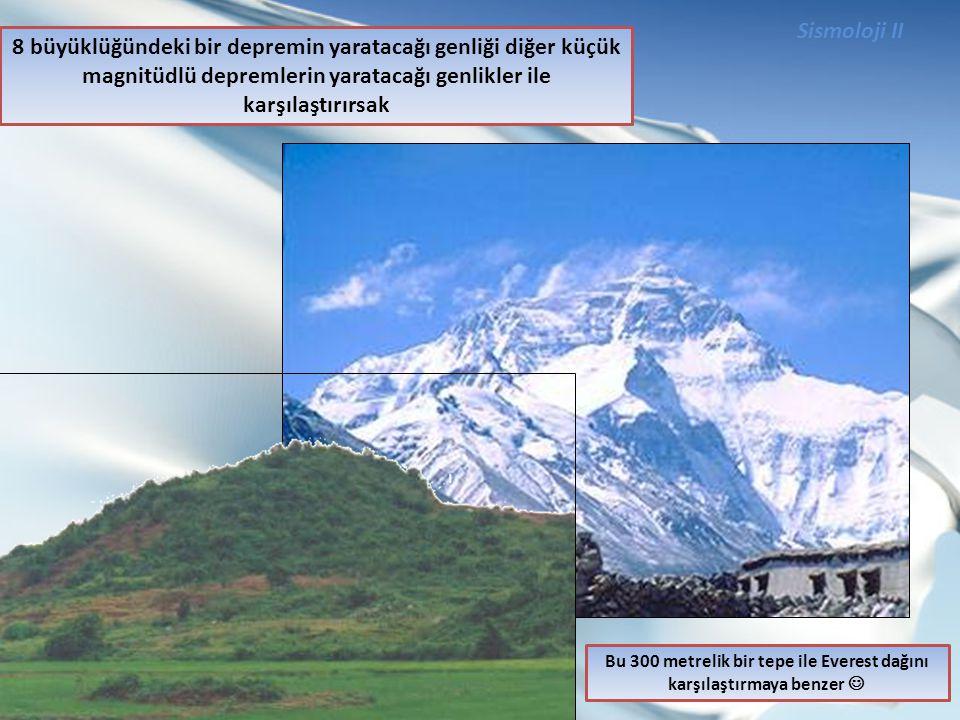 Bu 300 metrelik bir tepe ile Everest dağını karşılaştırmaya benzer 