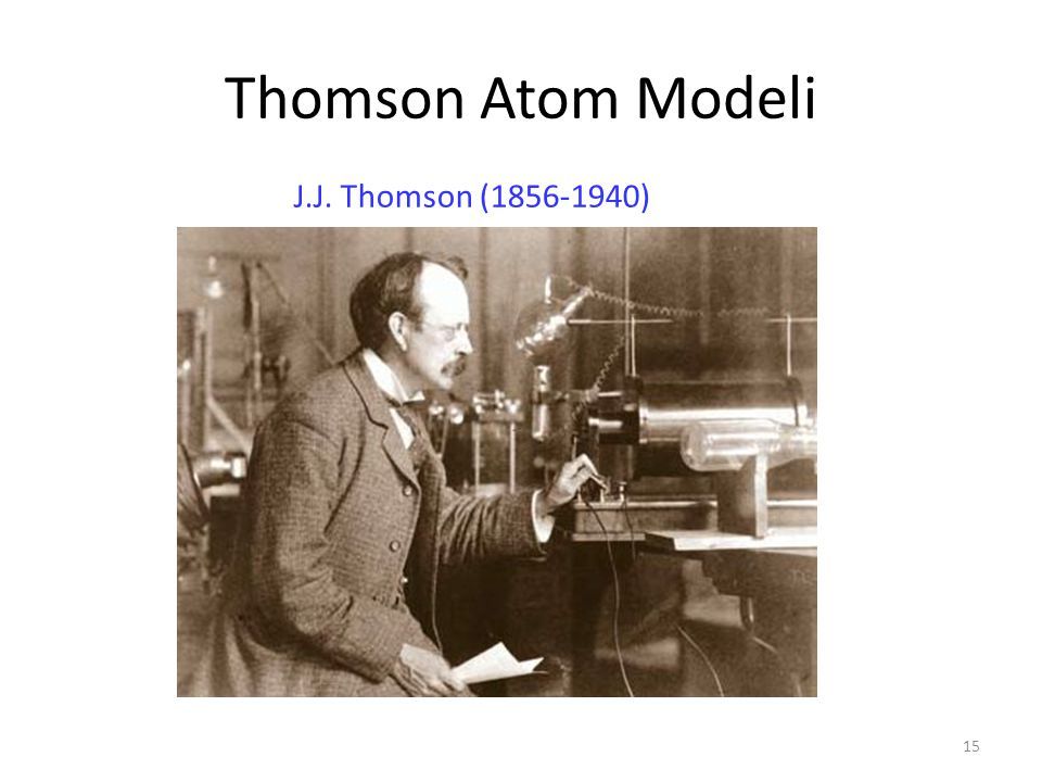 Thomson Atom Modeli J.J. Thomson (1856-1940)