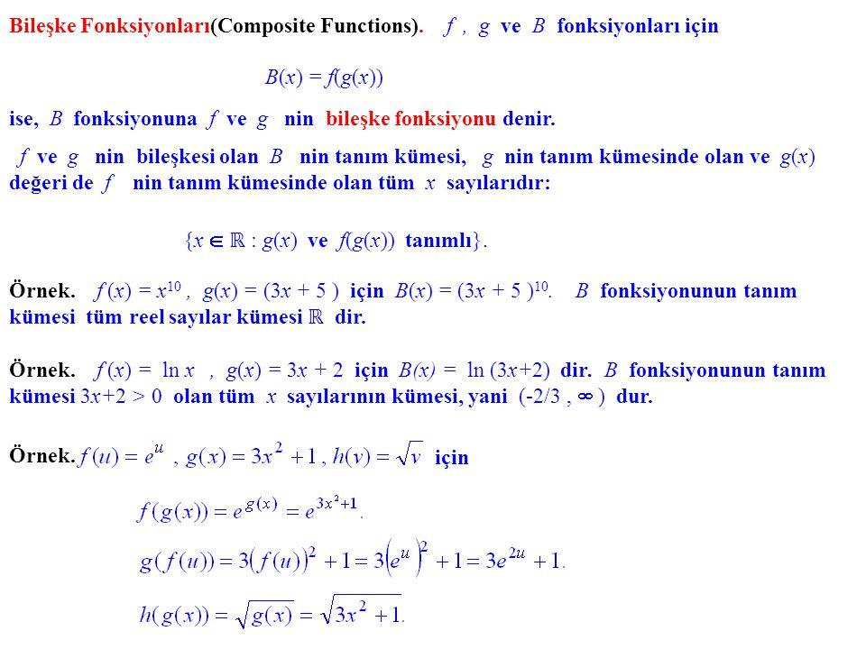 {x  ℝ : g(x) ve f(g(x)) tanımlı}.