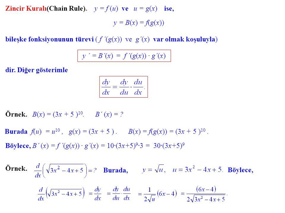 y ´ = B´(x) = f ´(g(x)) · g´(x)