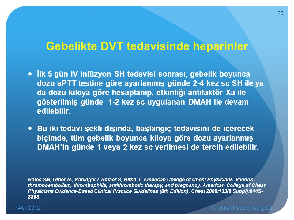Gebelikte DVT tedavisinde heparinler