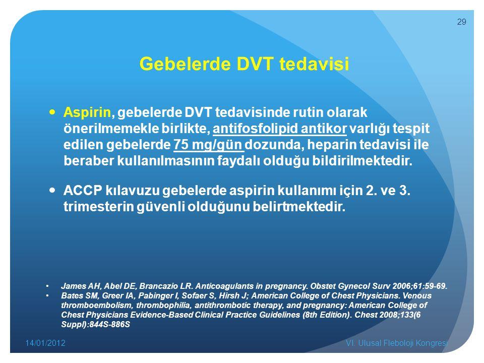 Gebelerde DVT tedavisi