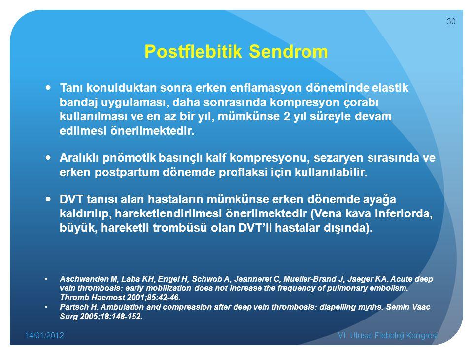 Postflebitik Sendrom