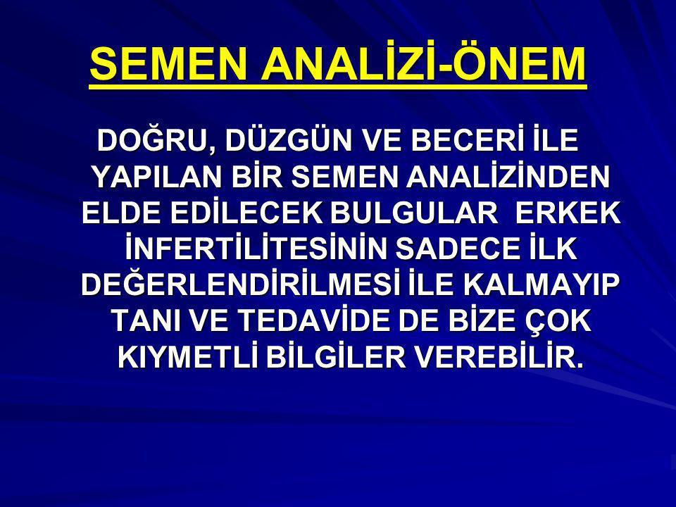SEMEN ANALİZİ-ÖNEM
