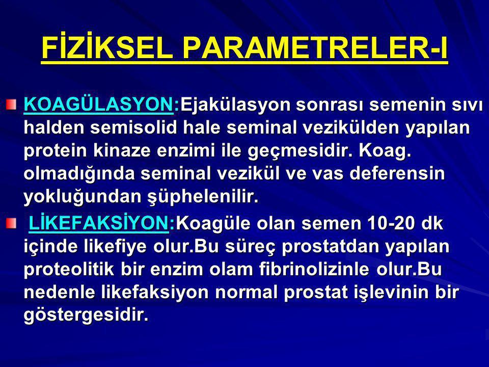 FİZİKSEL PARAMETRELER-I
