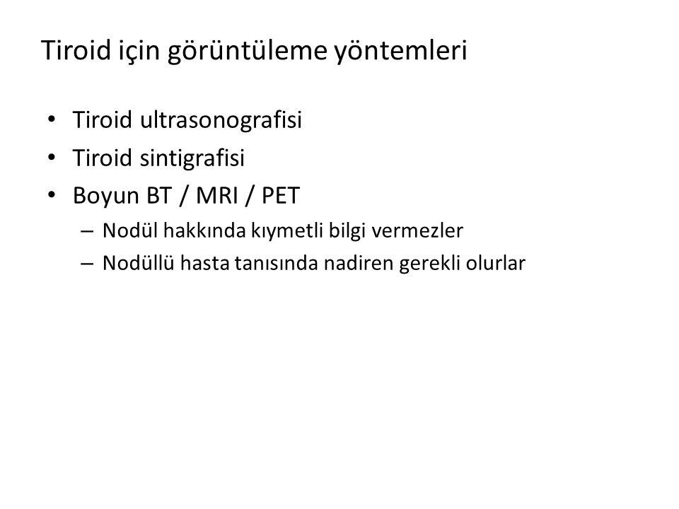 Tiroid için görüntüleme yöntemleri