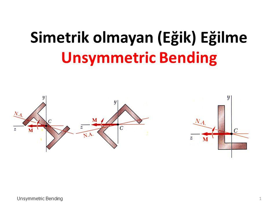 Simetrik olmayan (Eğik) Eğilme Unsymmetric Bending