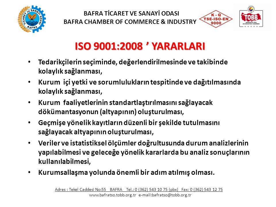 BAFRA TİCARET VE SANAYİ ODASI BAFRA CHAMBER OF COMMERCE & INDUSTRY