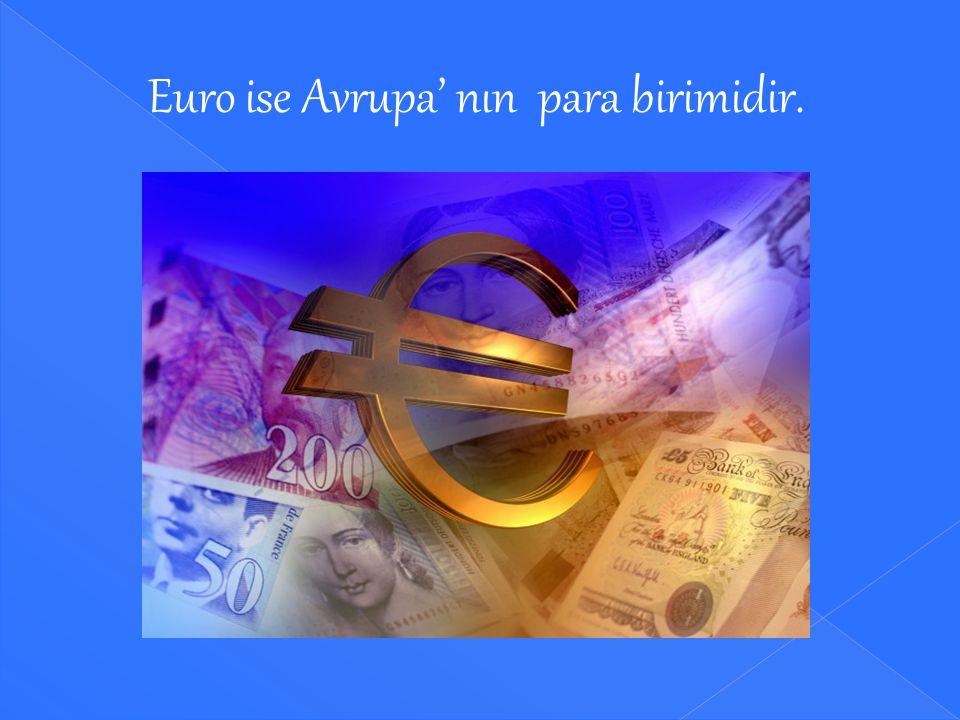 Euro ise Avrupa' nın para birimidir.