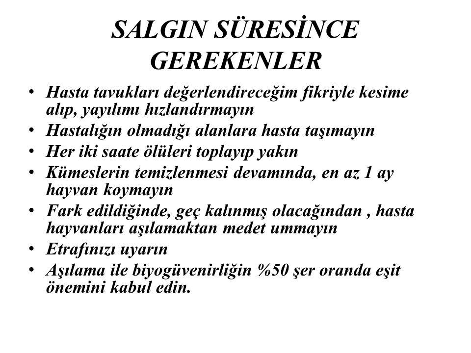 SALGIN SÜRESİNCE GEREKENLER