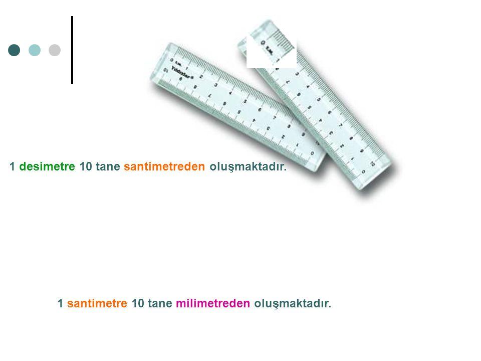 1 desimetre 10 tane santimetreden oluşmaktadır.