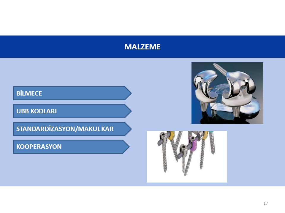 MALZEME BİLMECE UBB KODLARI STANDARDİZASYON/MAKUL KAR KOOPERASYON