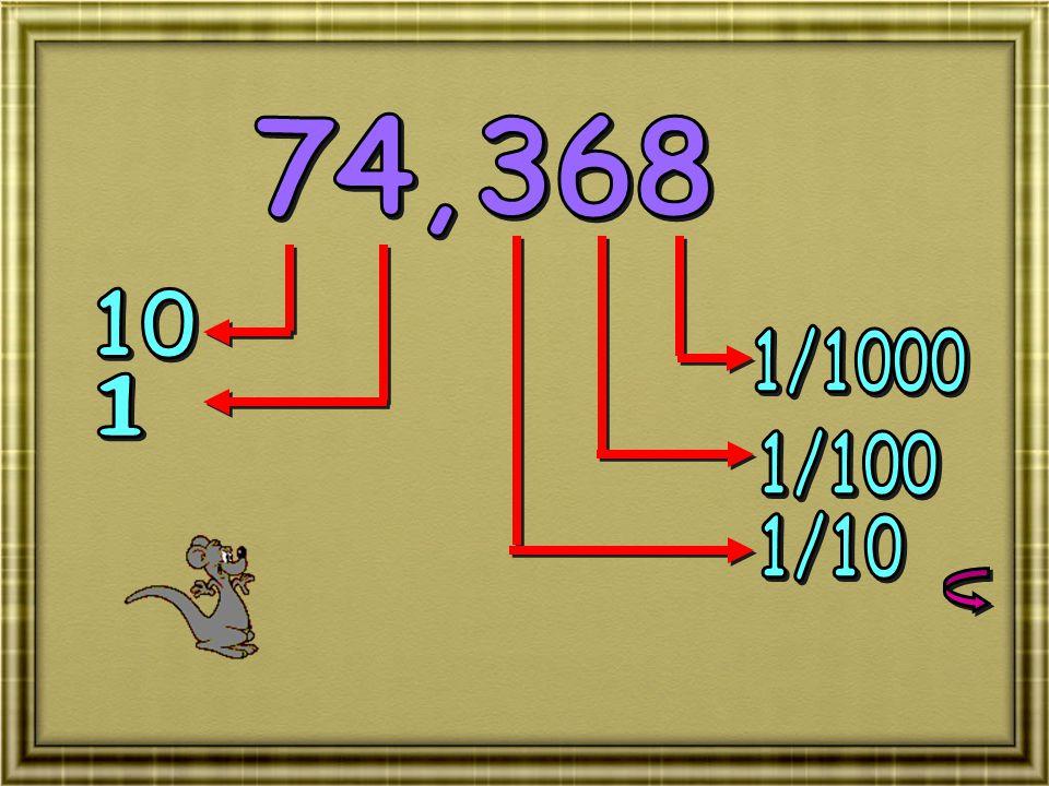 74,368 10 1/1000 1 1/100 1/10