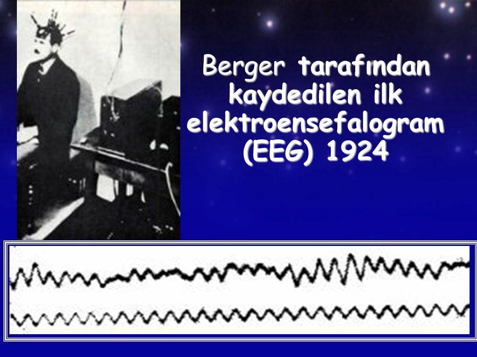 Berger tarafından kaydedilen ilk elektroensefalogram (EEG) 1924